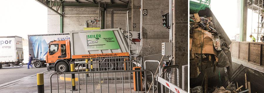 Abfallverwertung in der KVA Buchs: Anlieferung