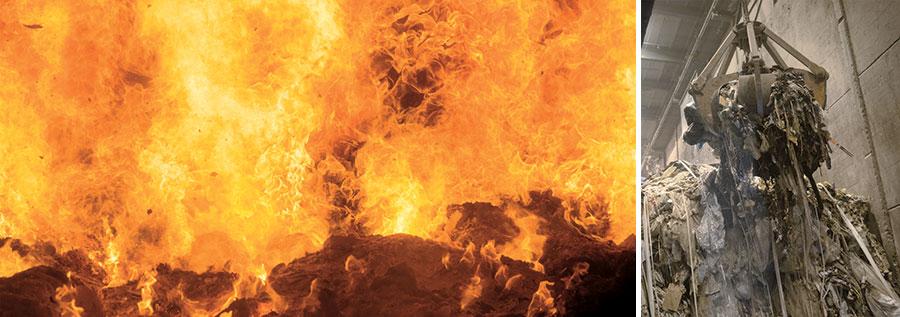 Abfallverwertung in der KVA Buchs: Verbrennung